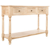 White Stone Wood Sofa Table